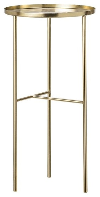 Tall Gold Metal Side Table Contemporary Side Tables And End Tables By First Of A Kind Usa Inc