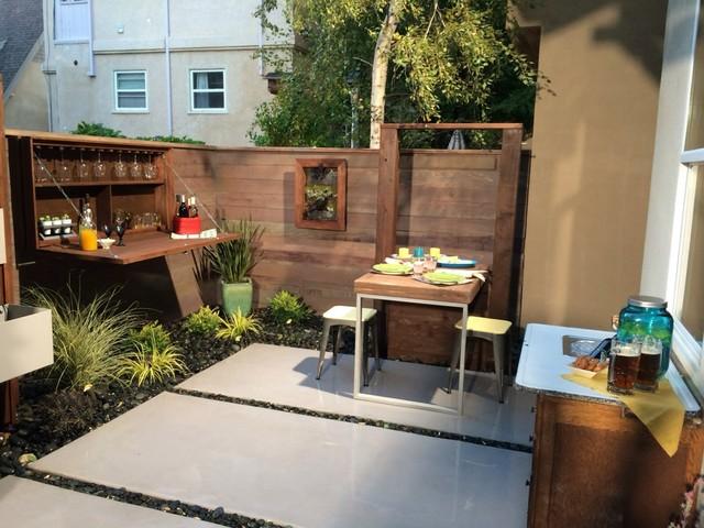 Small Urban Backyard Patio - Contemporary - Sacramento ... on Small Urban Patio Ideas id=13867
