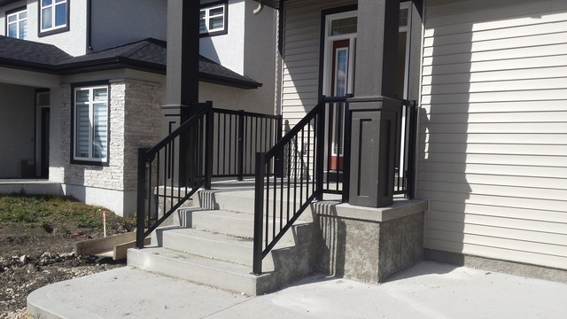 Front Step Railings Porch Other By Best Price Railing | Front Step Design For House | Half Round | House Indian | Back Door Step | House Kerala | Circular Step