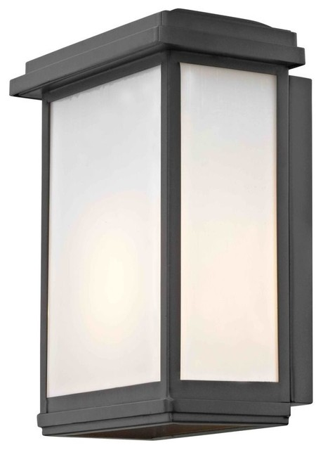 Modern Outdoor Wall Sconce, Black - Transitional - Outdoor ... on Contemporary Outdoor Wall Sconces id=17426