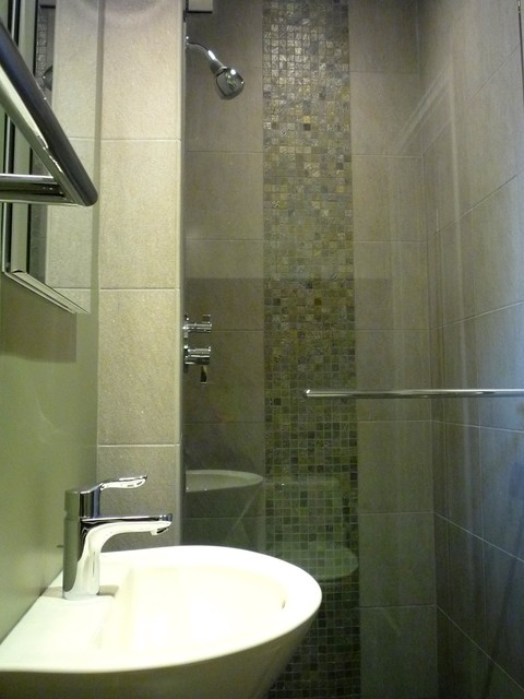Small Bath Modern Bathroom Los Angeles By SH Interiors