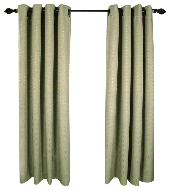 Grand Pointe Room Darkening Grommet Panel Transitional Curtains By Ricardo Trading
