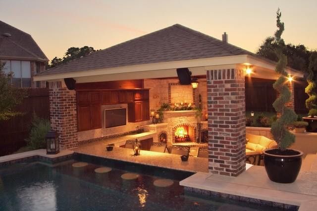 Luxury Backyards - Traditional - Patio - Austin - by Cody ... on Luxury Backyard Patios id=67208