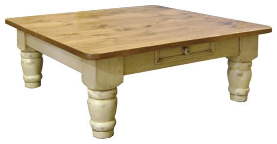 "Sugar Hill Coffee Table, 48"" Square, 6"" Turned Legs"