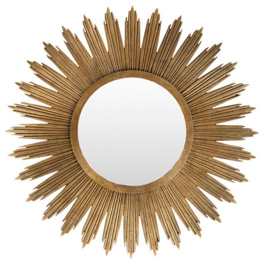 Gold Round Burst Mirror contemporary-wall-mirrors