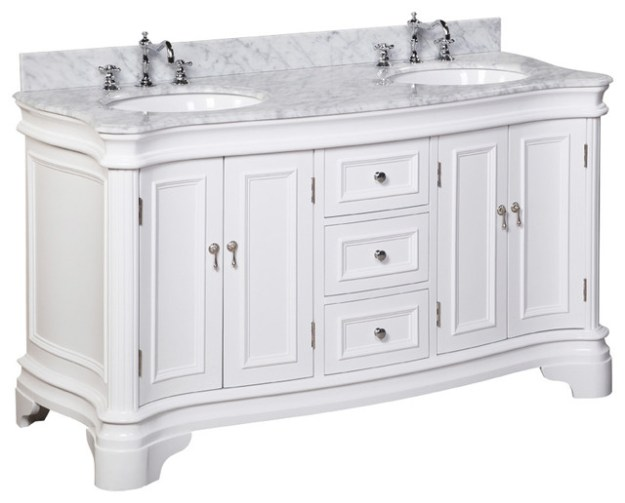 "katherine 60"" bath vanity - traditional - bathroom vanities and sink"