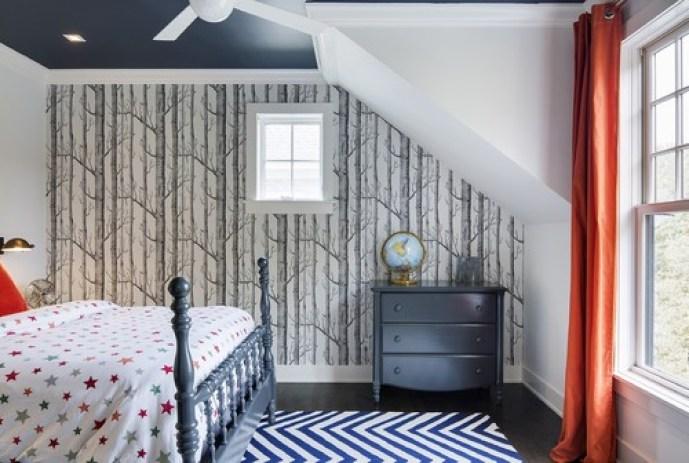 Birch Tree Wallpaper, boys room