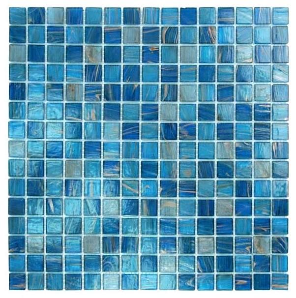 12 88 x12 88 glass tile blends venetian series blue copper blend