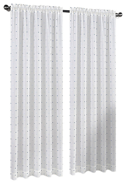 54 x96 madeline set of 2 sheer curtain panels off white