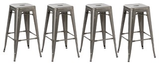Hartwell Metal Bar Stools, Set of 4, 30""