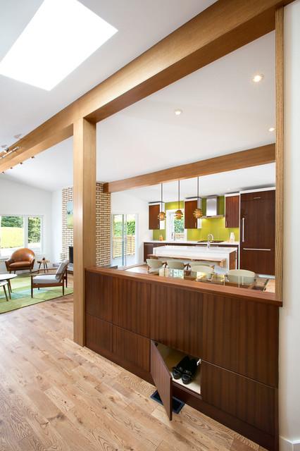 Progetti per open space grandi e piccoli, loft e living con cucina a vista, zone giorno dall'arredamento contemporaneo. Soluzioni Per Separare La Zona Giorno Senza Rinunciare All Open Space