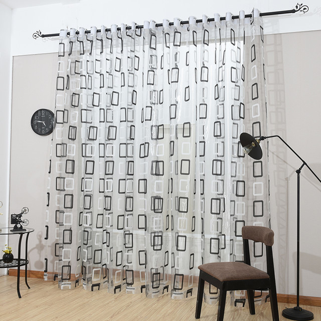modern sheer curtain panels 60 x 100 inch tall window treatments by dolce mela