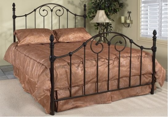 Vanessa Queen Antique Brown Wrought Iron Bed Frame
