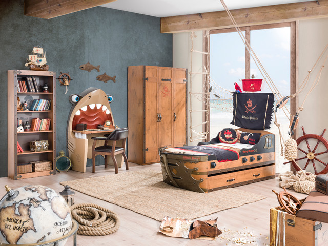 pirate ship bedroom - coastal - kids - miami - by turbo beds