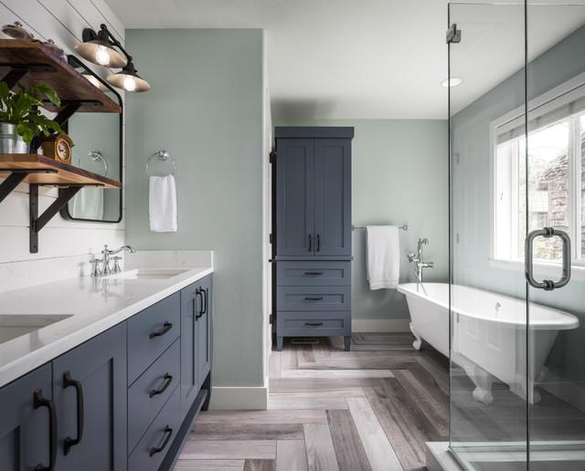 Modern Farmhouse - Farmhouse - Bathroom - Portland - by ... on Farmhouse Modern Bathroom Ideas  id=31610