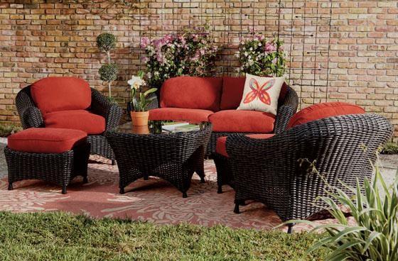 Martha Stewart Living™ Lake Adela Six-Piece Seating Set ... on Martha Stewart 6 Piece Patio Set id=37635