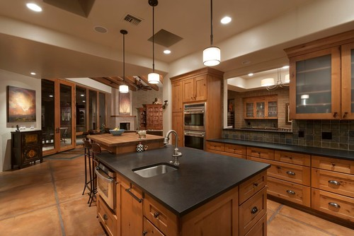 Black Granite Countertops - Luxurious Look for Kitchens on Kitchen Backsplash For Black Countertop  id=58243