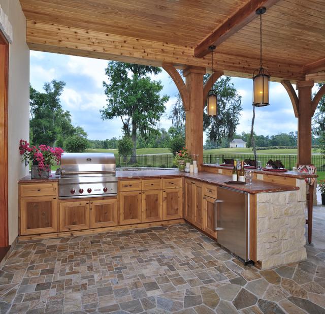Contemporary Tuscan Veranda - Contemporary - Patio ... on Luxury Backyard Patios id=73684