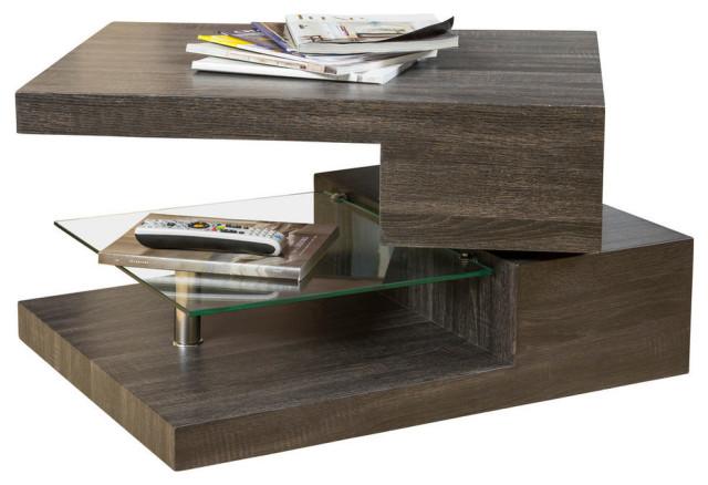 gdf studio bushwick rectangular rotating wood coffee table