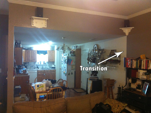 How Do I Make A Smooth Transition With Two Paint Colors On A Long Wall In Open Floor Plan