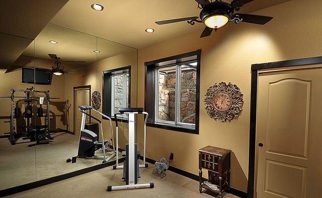 Timbers Traditional Home Gym Denver By Basements