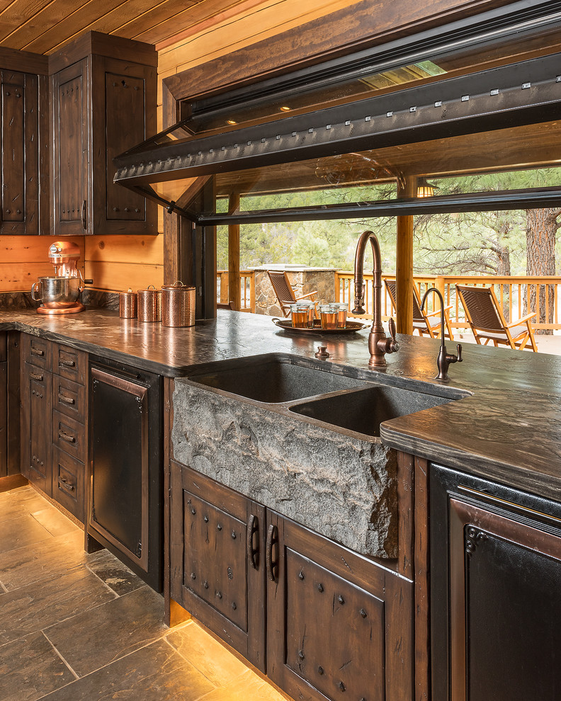 Paradise in the Pines - Rustic - Kitchen - Phoenix - by ... on Farmhouse Rustic Kitchen Ideas  id=37996