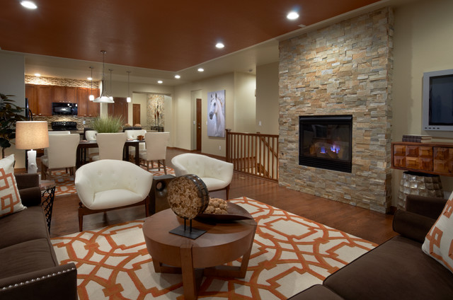 High Point Bliss Model Great Room Contemporary Living