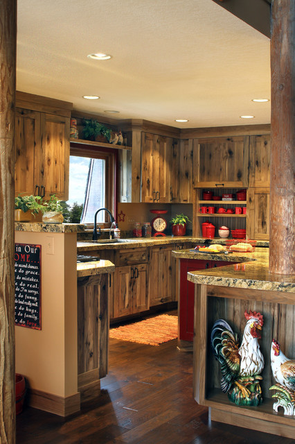 Rustic Farmstead/Hickory/Reclaimed Patina on Rustic Farmhouse Kitchen  id=39001