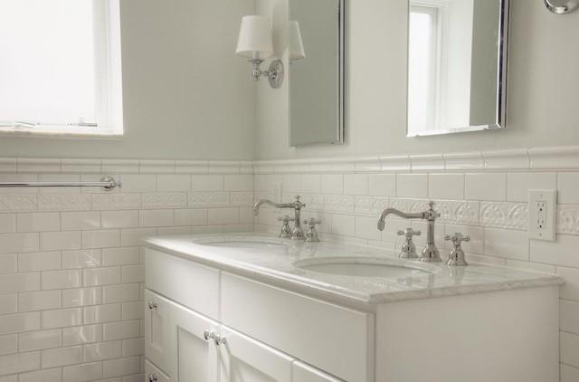 title   White Subway Tile Bathroom
