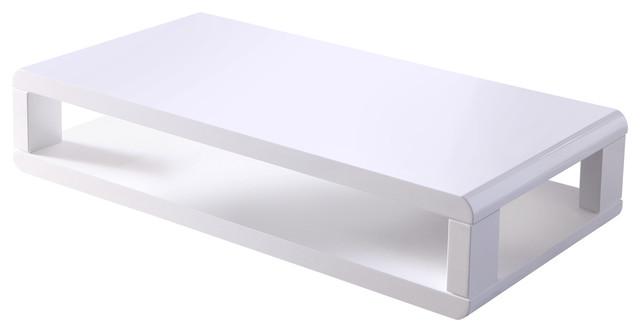 casa 48 modern euro white lacquered high gloss coffee table