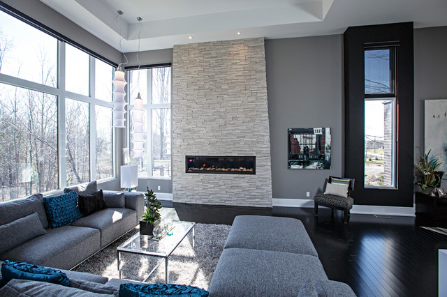 The living room is one of the most important areas in your house for a great hosting experience. Contemporary living room in grey tones - Contemporary ...