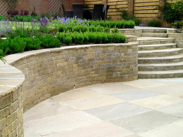 Split level garden with steps - Modern - Exterior - Other ... on Split Garden Ideas id=76173