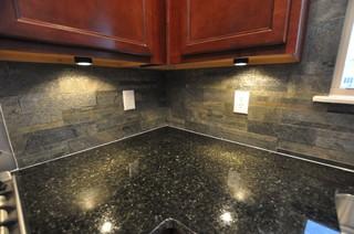Granite Countertops and Tile Backsplash Ideas - Eclectic ... on Backsplash Ideas With Granite Countertops  id=60482
