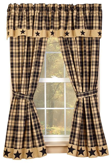 black farmhouse star 63 curtain panels