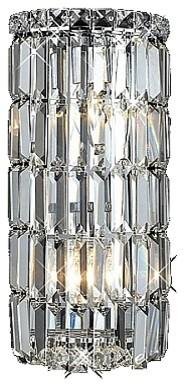 Contemporary Crystal Wall Sconce Modern Bathroom Lighting ... on Crystal Bathroom Sconces id=66636