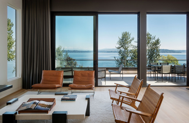 Madrona Residence modern-living-room