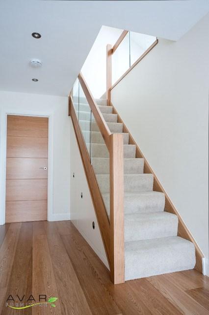 Under Stairs Storage Modern Entrance London By Bespoke | Modern Under Stairs Storage | Hallway Understairs Storage | Grey | Home Stair | Bajo | Minimal