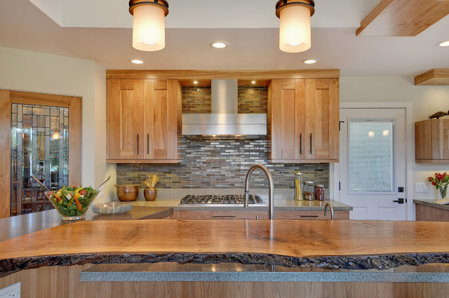 live wood edge island top contemporary-kitchen