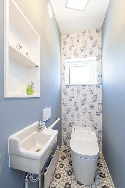 戸建て住宅インテリアデザイン コンテンポラリー-トイレ洗面所