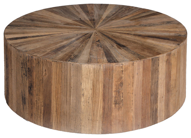 gabby cyrano recycled wood circular coffee table