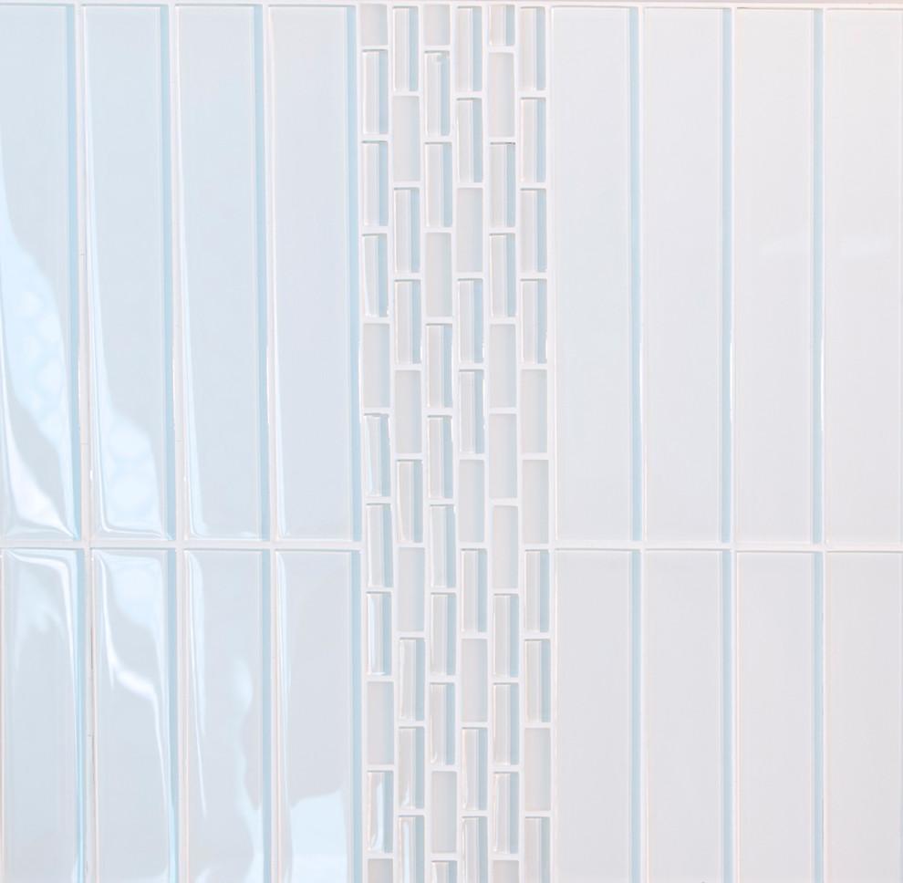 super white glossy subway glass tile box of 35 sheets