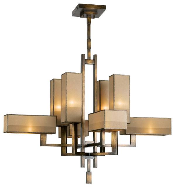 Fine Art Lamps Perspectives Bronze Chandelier 733840st Contemporary Chandeliers
