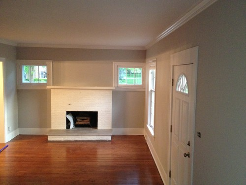 1926 Dutch Colonial Front Door Opens Directly Into Living