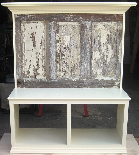bench seats made using old doors - eclectic - entry - dallas -
