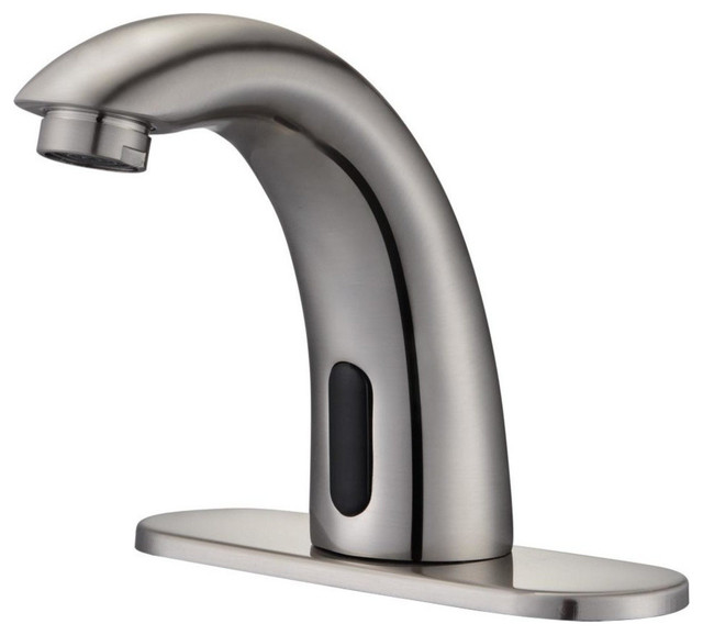 aquaterior touchless faucet automatic sensor cold hot water hands free bathroom