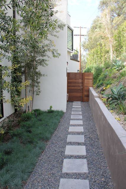 Landscaping a narrow walkway on Side Yard Walkway Ideas  id=37564