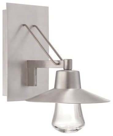 Modern Forms WS-W1911AL Suspense Brushed Aluminum Outdoor ... on Contemporary Outdoor Wall Sconces id=63062