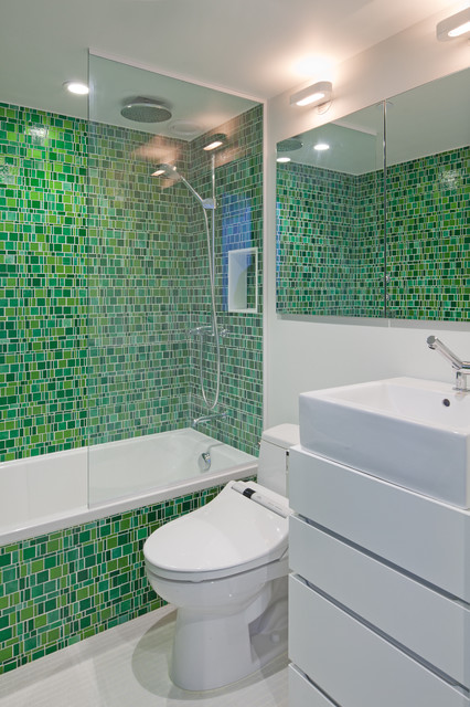 Greenwich Loft Studio eclectic-bathroom