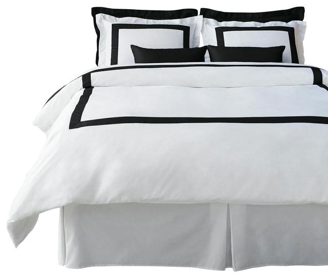 lacozi cotton sateen modern hotel black white duvet cover set queen
