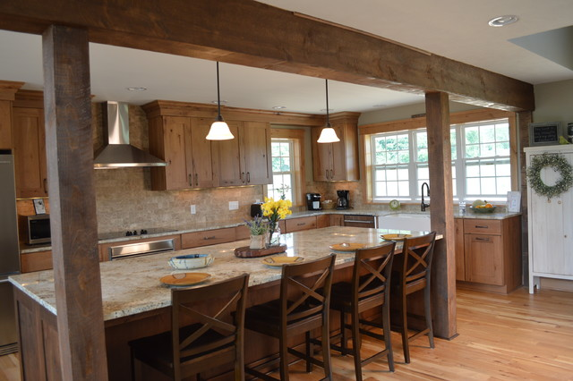 Rustic Modern Farmhouse Kitchen - Rustic - Kitchen ... on Farmhouse Rustic Kitchen Ideas  id=33133